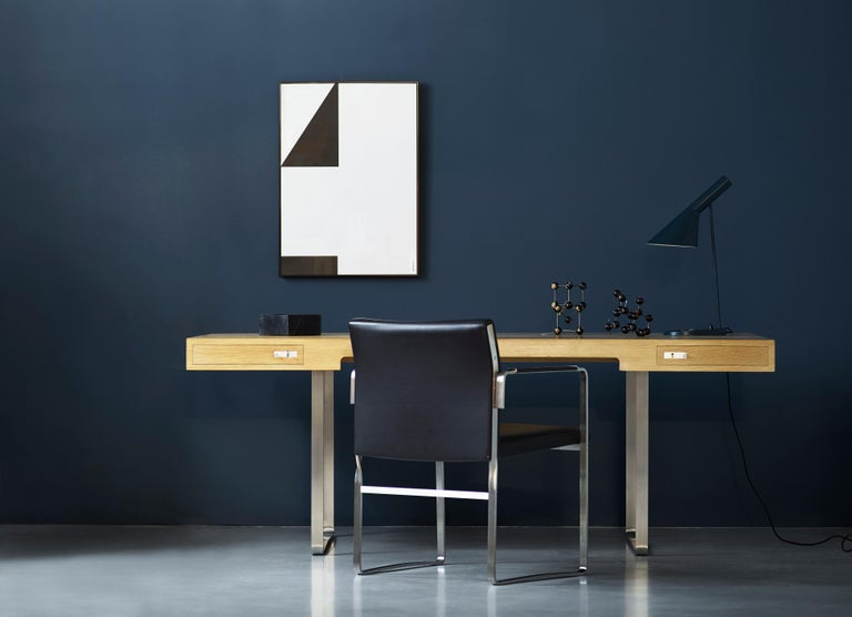 Modern CH111 Chair in Stainless Steel With Foam Seat by Hans J. Wegner For Sale