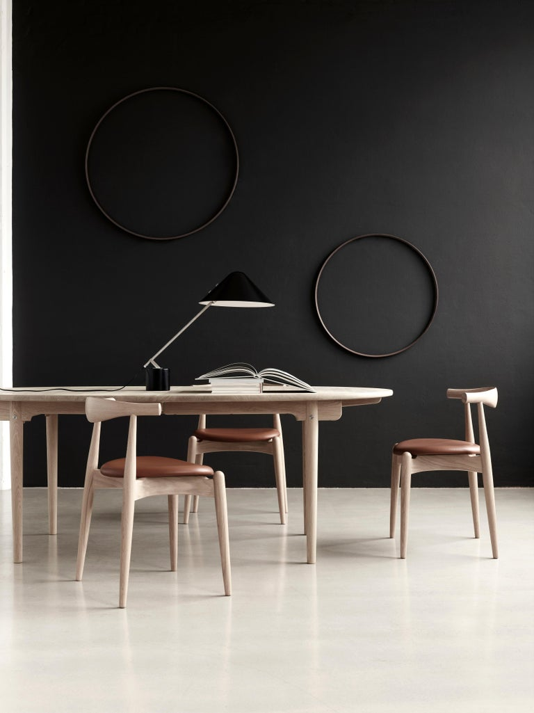 Contemporary CH20 Elbow Chair in Oak Painted Black by Hans J. Wegner For Sale
