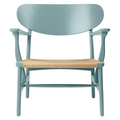 CH22 Lounge Chair in Oak / Pewter by Hans J. Wegner & Ilse Crawford