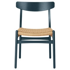 CH23 Dining Chair in Oak / North Sea by Hans J. Wegner & Ilse Crawford