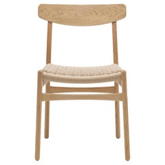 CH23 Dining Chair in Oak Oil with Natural Papercord Seat by Hans J. Wegner