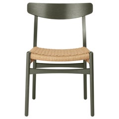 CH23 Dining Chair in Oak / Seaweed by Hans J. Wegner & Ilse Crawford