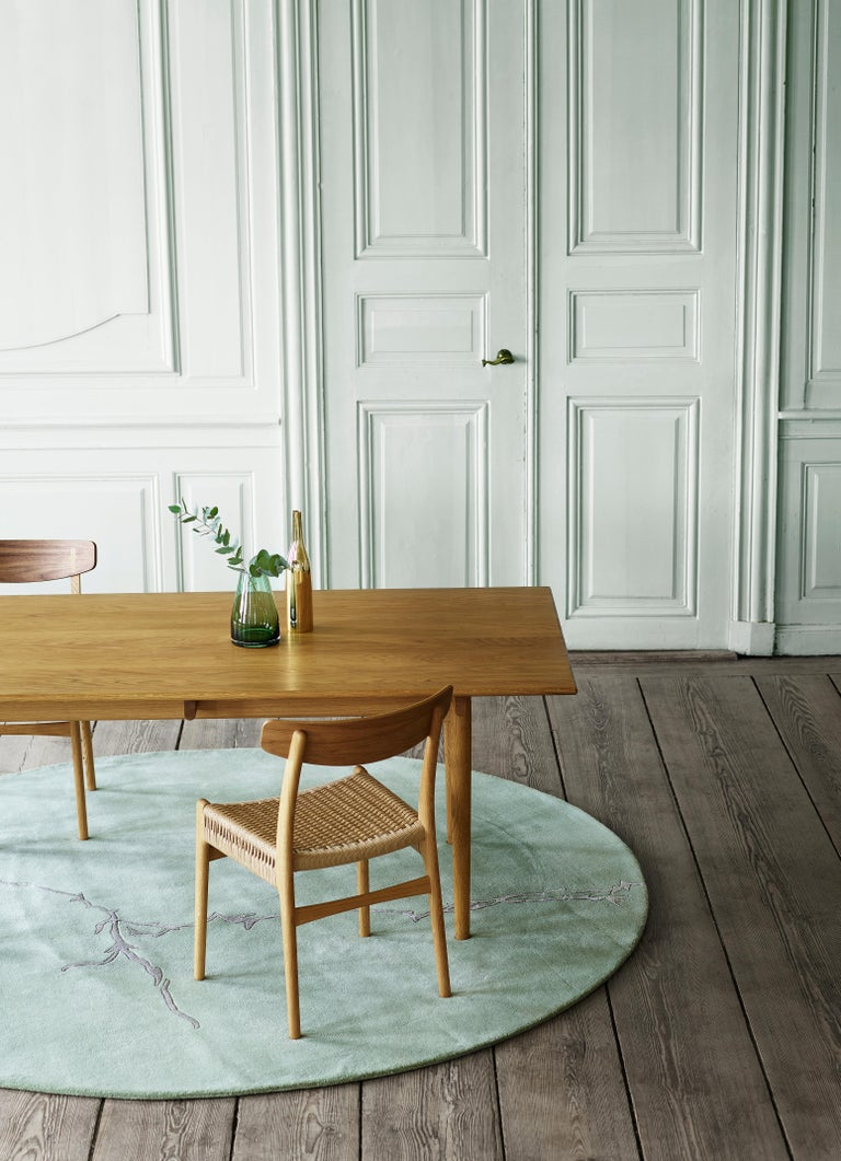 CH23 Dining Chair in Wood Finishes with Black Papercord Seat by Hans J. Wegner For Sale 4