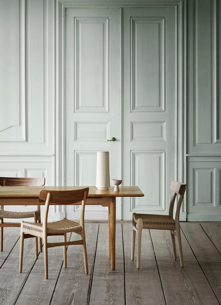 CH23 Dining Chair in Wood Finishes with Black Papercord Seat by Hans J. Wegner For Sale 5