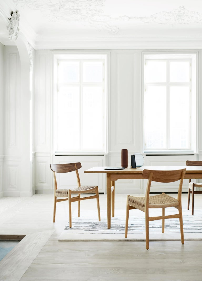 CH23 Dining Chair in Wood Finishes with Black Papercord Seat by Hans J. Wegner For Sale 6