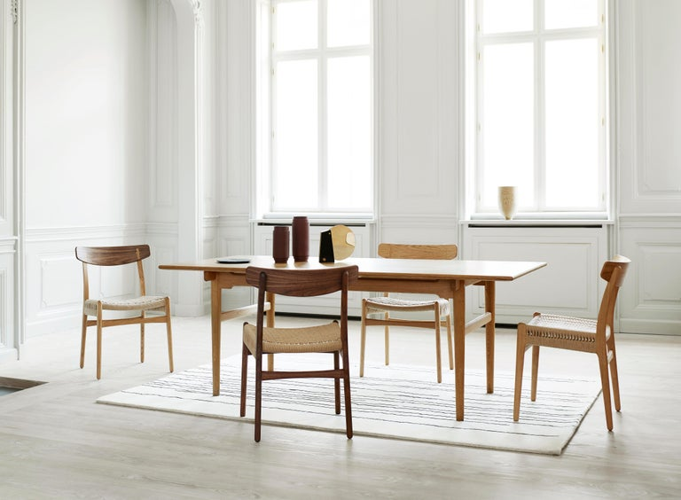 CH23 Dining Chair in Wood Finishes with Black Papercord Seat by Hans J. Wegner For Sale 7