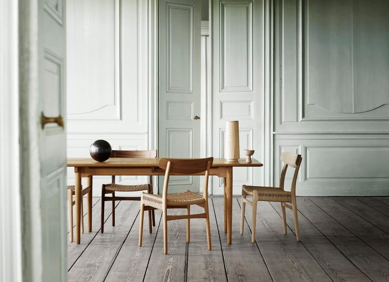 CH23 Dining Chair in Wood Finishes with Black Papercord Seat by Hans J. Wegner For Sale 9