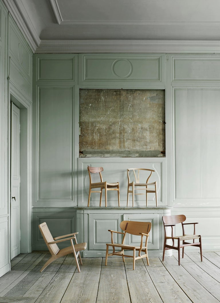 CH23 Dining Chair in Wood Finishes with Black Papercord Seat by Hans J. Wegner For Sale 10