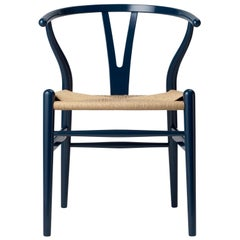 CH24 Birthday Edition in Glossy Navy Blue by Hans J. Wegner + Ilse Crawford
