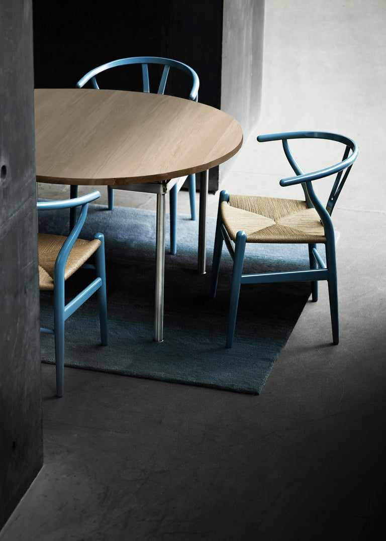 CH24 Wishbone Chair in Color Finishes with Black Papercord Seat by Hans Wegner For Sale 26