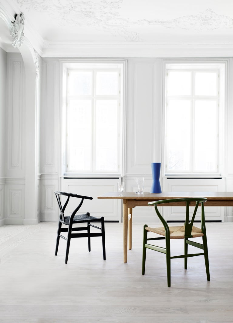 CH24 Wishbone Chair in Color Finishes with Black Papercord Seat by Hans Wegner For Sale 28
