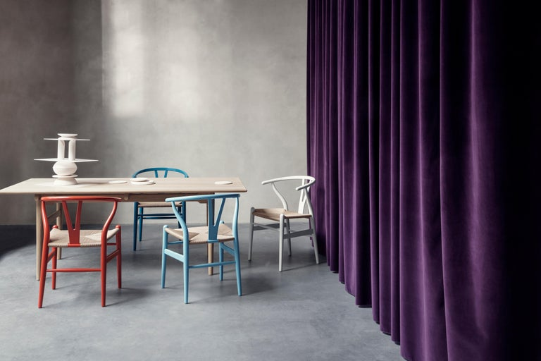 CH24 Wishbone Chair in Color Finishes with Natural Papercord Seat by Hans Wegner For Sale 8