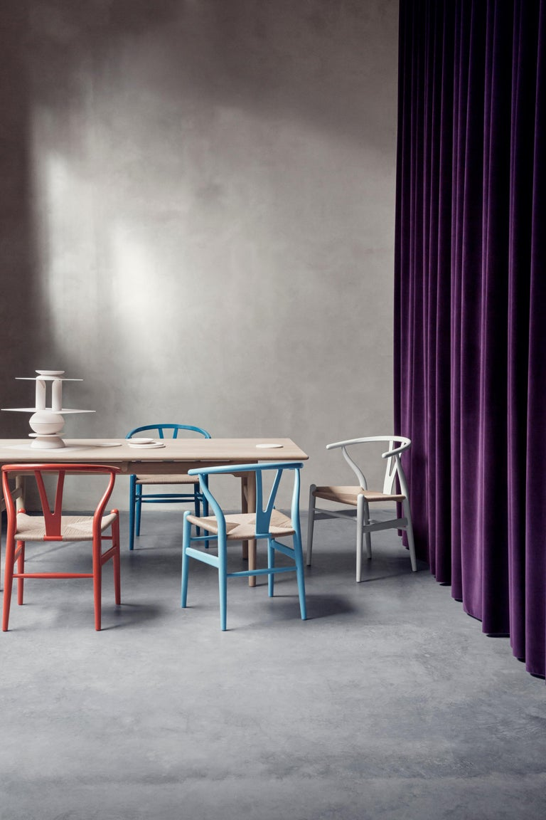 CH24 Wishbone Chair in Color Finishes with Natural Papercord Seat by Hans Wegner For Sale 9