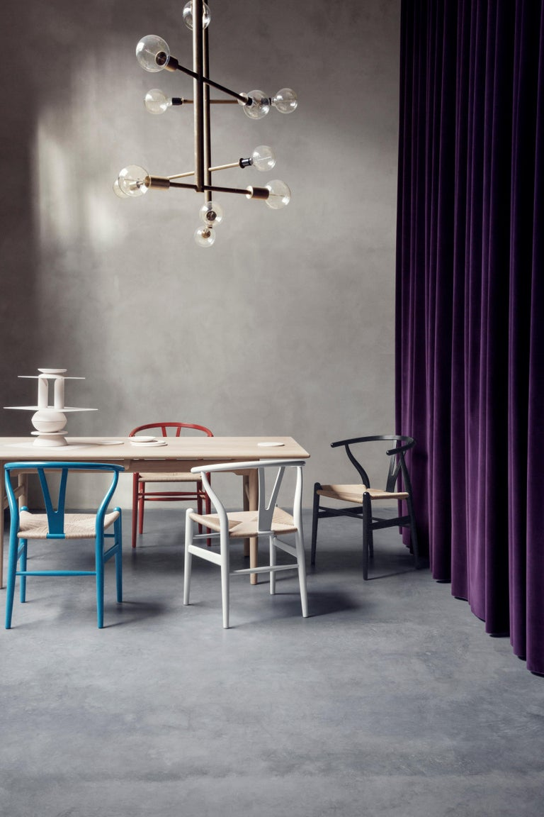 CH24 Wishbone Chair in Color Finishes with Natural Papercord Seat by Hans Wegner For Sale 10