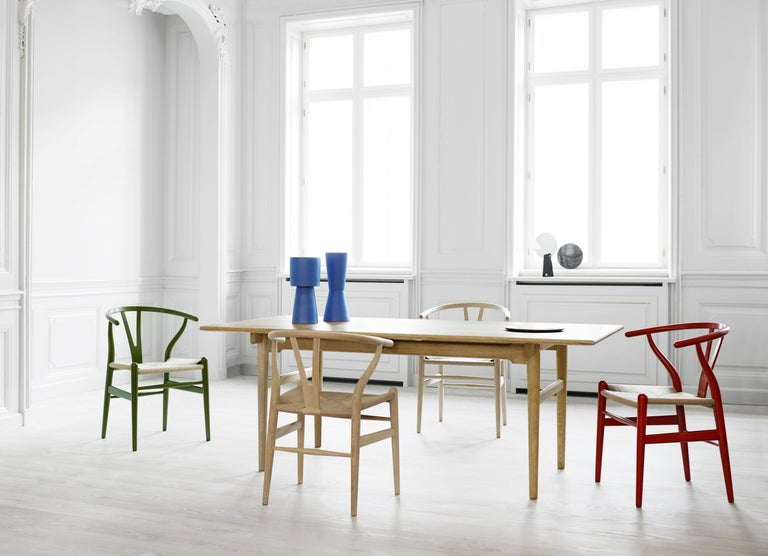 CH24 Wishbone Chair in Color Finishes with Natural Papercord Seat by Hans Wegner For Sale 15