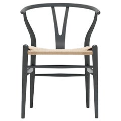 CH24 Wishbone Chair in Color Finishes with Natural Papercord Seat by Hans Wegner