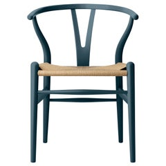 CH24 Wishbone Chair in Oak / North Sea by Hans J. Wegner & Ilse Crawford