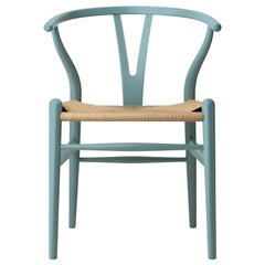 CH24 Wishbone Chair in Oak / Pewter by Hans J. Wegner & Ilse Crawford