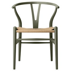 CH24 Wishbone Chair in Oak / Seaweed by Hans J. Wegner & Ilse Crawford