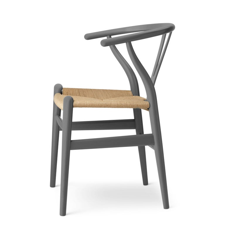 Modern CH24 Wishbone Chair in Oak / Slate by Hans J. Wegner & Ilse Crawford For Sale