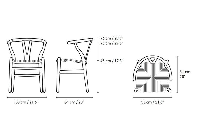 Danish CH24 Wishbone Chair in Oak / Slate by Hans J. Wegner & Ilse Crawford For Sale