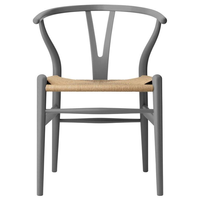 CH24 Wishbone Chair in Oak / Slate by Hans J. Wegner & Ilse Crawford For Sale