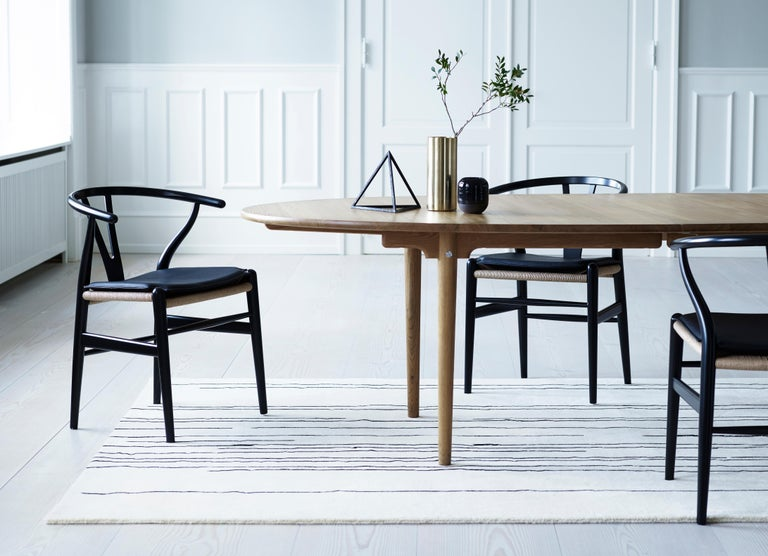 CH24 Wishbone Chair in Wood Finishes with Black Papercord Seat by Hans J. Wegner For Sale 16