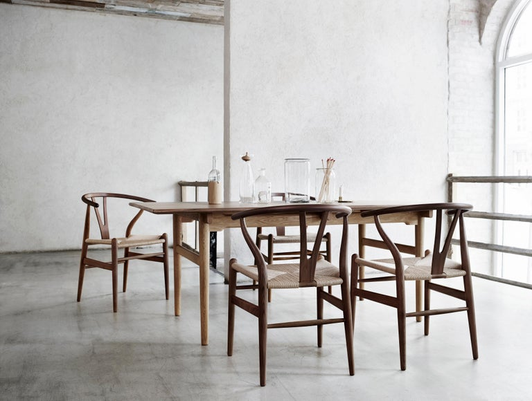 CH24 Wishbone Chair in Wood Finishes with Black Papercord Seat by Hans J. Wegner For Sale 20