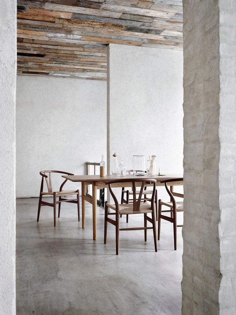 CH24 Wishbone Chair in Wood Finishes with Black Papercord Seat by Hans J. Wegner For Sale 21