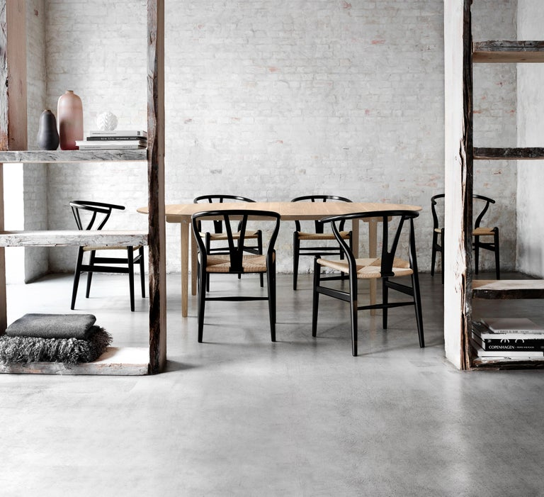 CH24 Wishbone Chair in Wood Finishes with Black Papercord Seat by Hans J. Wegner For Sale 22