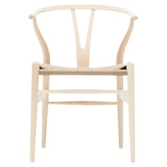 CH24 Wishbone Chair in Wood Finishes with Natural Papercord Seat by Hans Wegner
