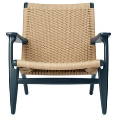 CH25 Armchair in Oak / North Sea by Hans J. Wegner & Ilse Crawford