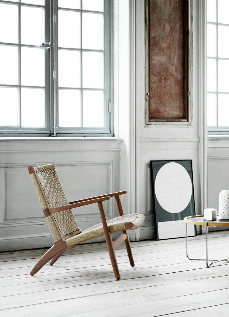 CH25 Easy Lounge Chair with Natural Papercord Seat by Hans J. Wegner For Sale 13