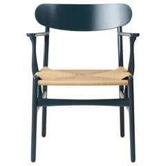 CH26 Dining Chair in Oak / North Sea by Hans J. Wegner & Ilse Crawford