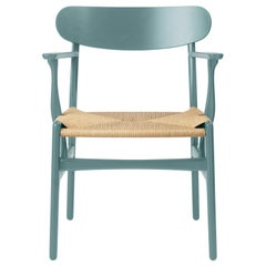CH26 Dining Chair in Oak / Pewter by Hans J. Wegner & Ilse Crawford