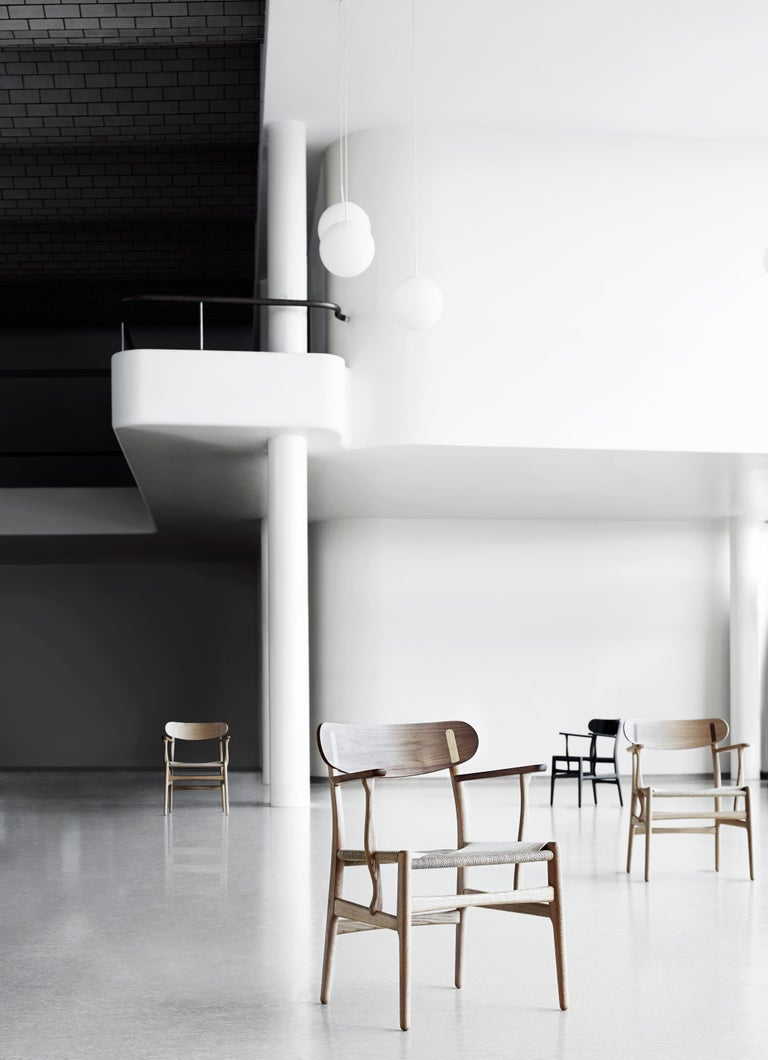 CH26 Dining Chair in Wood Finishes with Natural Papercord Seat by Hans J. Wegner For Sale 11