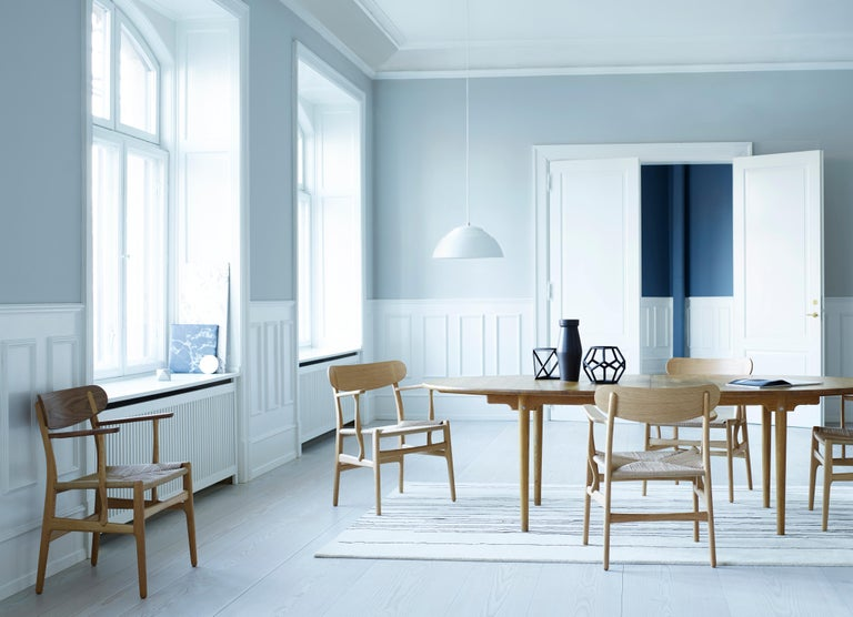 CH26 Dining Chair in Wood Finishes with Natural Papercord Seat by Hans J. Wegner For Sale 12
