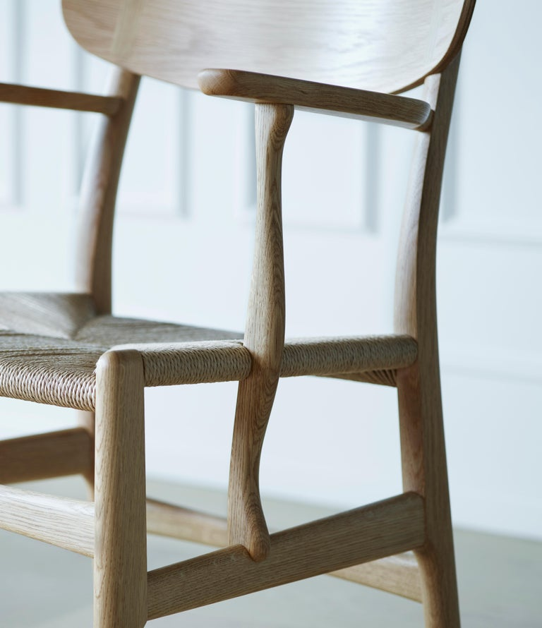 CH26 Dining Chair in Wood Finishes with Natural Papercord Seat by Hans J. Wegner For Sale 13