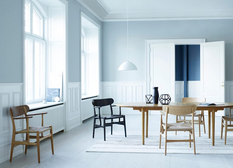 CH26 Dining Chair in Wood Finishes with Natural Papercord Seat by Hans J. Wegner For Sale 14