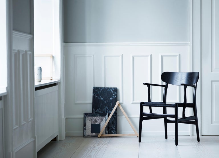 CH26 Dining Chair in Wood Finishes with Natural Papercord Seat by Hans J. Wegner For Sale 15