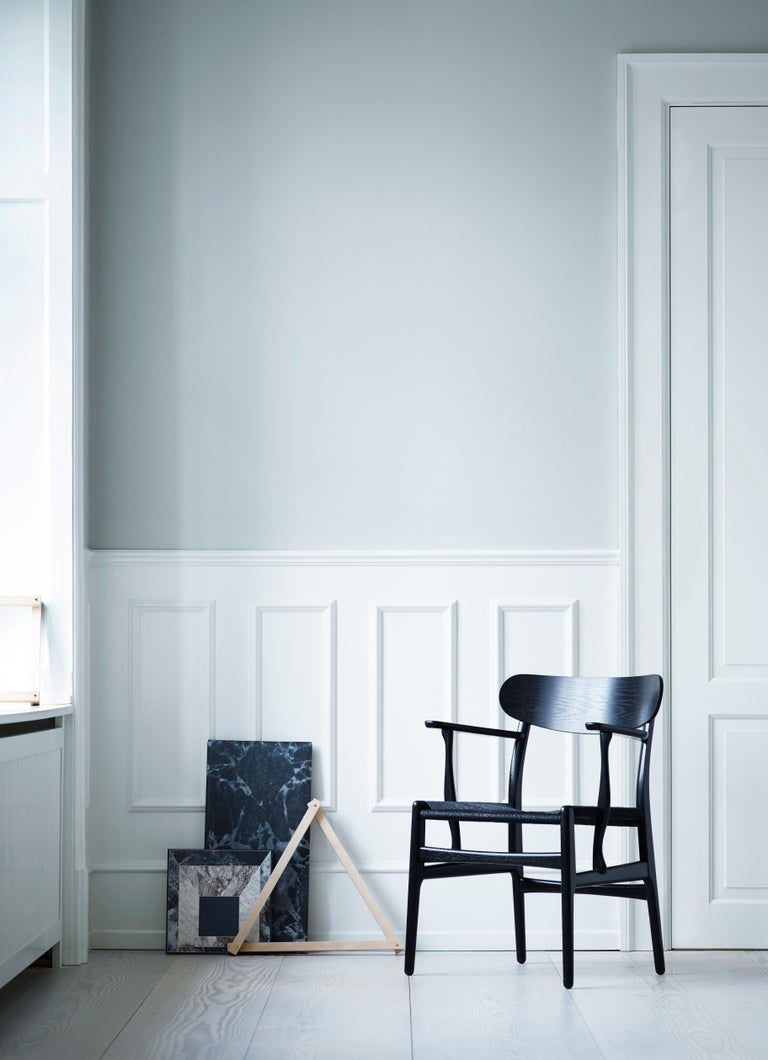 CH26 Dining Chair in Wood Finishes with Natural Papercord Seat by Hans J. Wegner For Sale 16