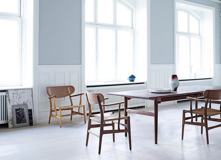 CH26 Dining Chair in Wood Finishes with Natural Papercord Seat by Hans J. Wegner For Sale 18