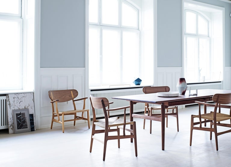 CH26 Dining Chair in Wood Finishes with Natural Papercord Seat by Hans J. Wegner For Sale 19