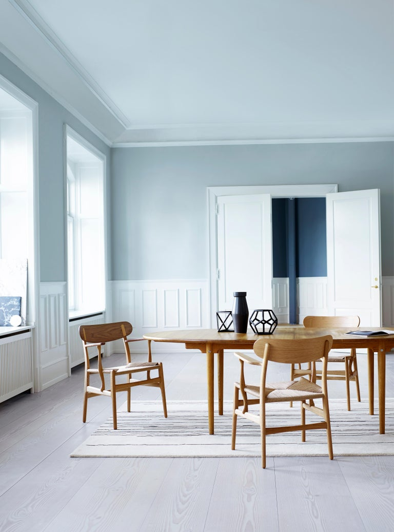 CH26 Dining Chair in Wood Finishes with Natural Papercord Seat by Hans J. Wegner For Sale 20