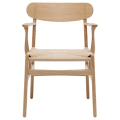 CH26 Dining Chair in Wood Finishes with Natural Papercord Seat by Hans J. Wegner