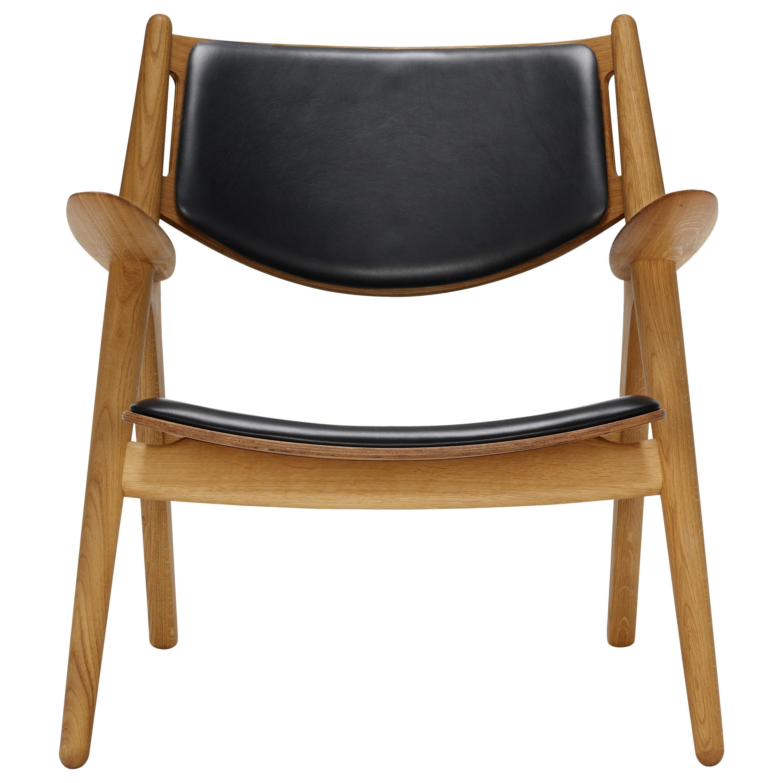 CH28P Lounge Chair in Oiled Oak with Foam Seat by Hans J. Wegner