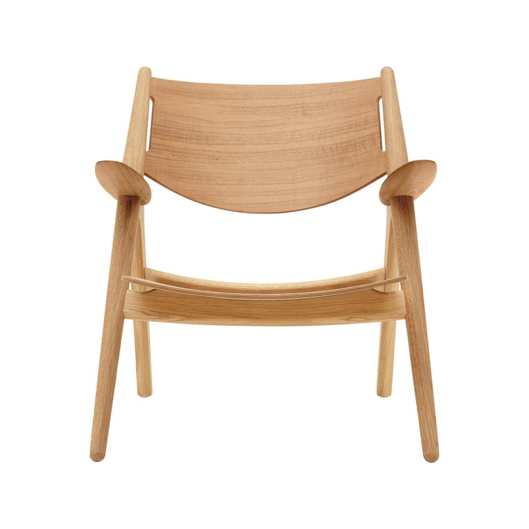 For Sale: Brown (Oak Oil) CH28T Lounge Chair in Wood Finish by Hans J. Wegner
