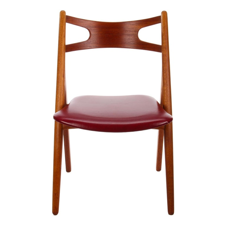 Scandinavian Modern CH29 Sawbuck Chair by Wegner for Carl Hansen & Son, 1952, Rare Vintage Edition For Sale