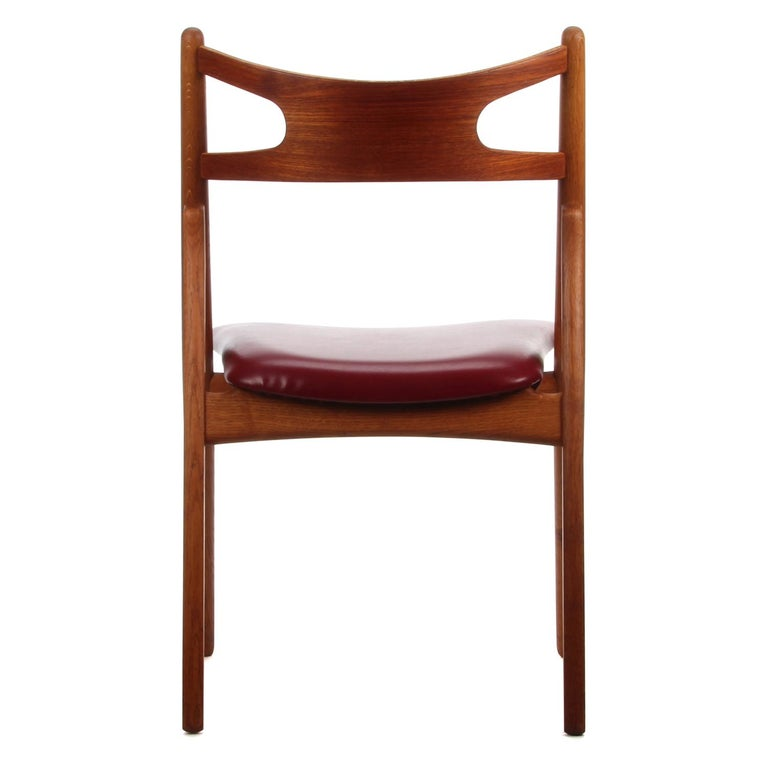 Oiled CH29 Sawbuck Chair by Wegner for Carl Hansen & Son, 1952, Rare Vintage Edition For Sale