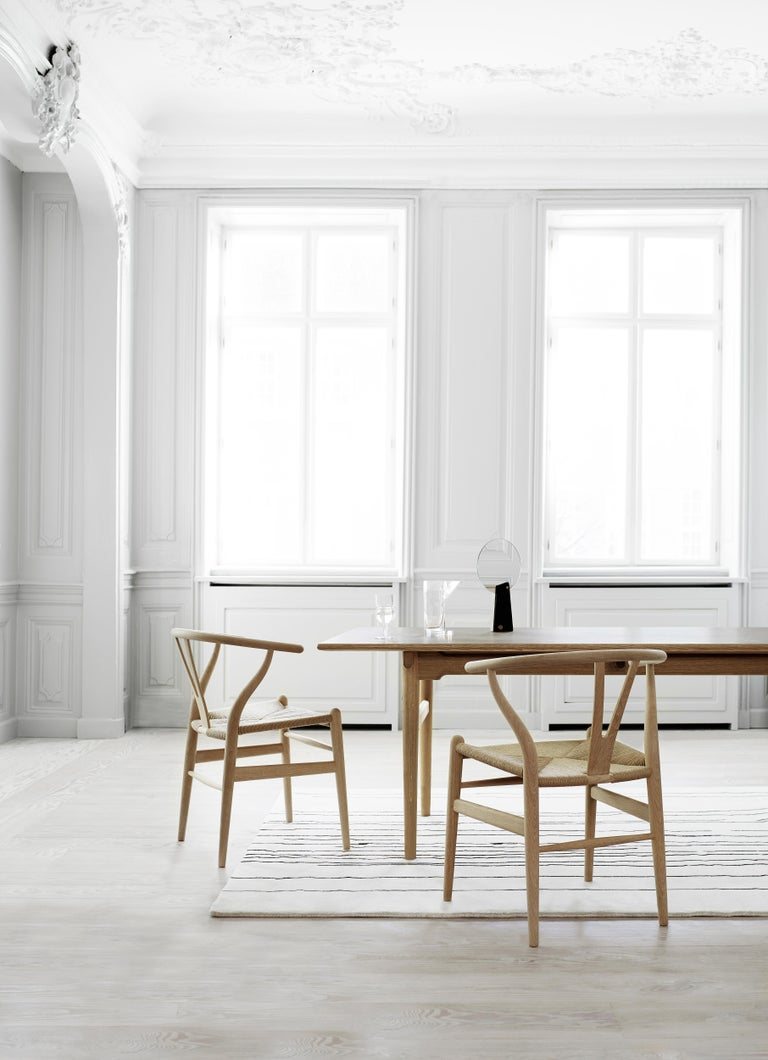 CH327 Large Dining Table in Wood Finish by Hans J. Wegner For Sale 11